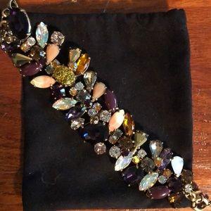 J. Crew multi-colored rhinestone bracelet